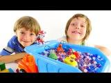 Видео для детей: ИгроБой Адриан, Арсений и Щенячий патруль! Гонки!