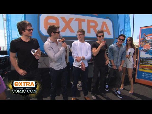 'Extra at Comic-Con': 'Vampire Diaries' Stars Ian and Nina Talk '50 Shades of Grey'