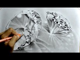 Graphite Realistic Drawing of Diamonds