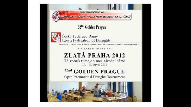 Draughts Golden Prague 2012 selectie of 42 games