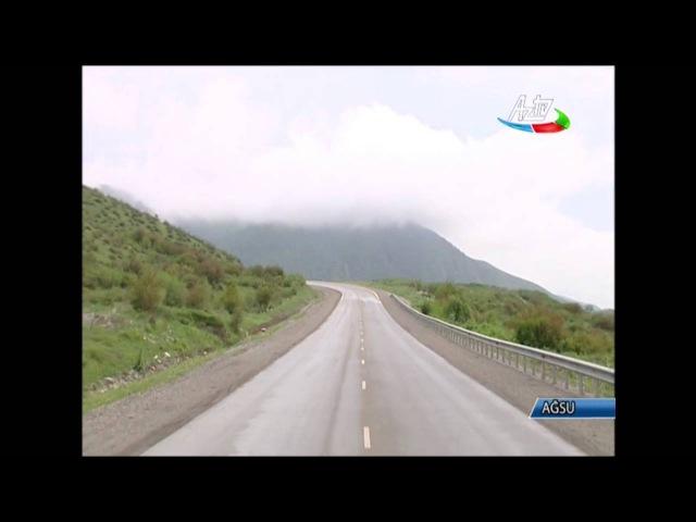 Bakı-Şamaxı-Yevlax avtomobil yolunun Muğanlı-Yevlax hissəsinin yenidənqurmadan sonra açılışı