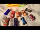 Прокачка тачек на мини-треке  серпантин(Хот Вилс,Метр) Сars driving  (Hot Wheels,Mater)