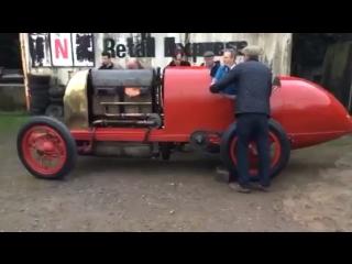 28,4-литровый Fiat S76 1911 г. Первый запуск.