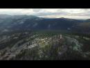 Вид с высоты птичьего полёта.Саяны Ергаки Каменный город Озеро Радужное Спящий Саян Видео в 4К