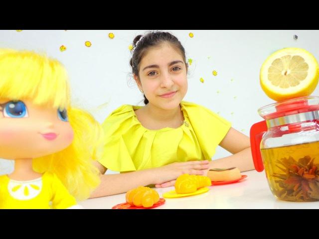 Видео для девочек: 🍂 Готовим ОСЕННИЙ чай! Кукла Лимоша и подружка Кристина. Реце...