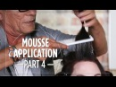 How to apply mousse before blow drying - Part 46