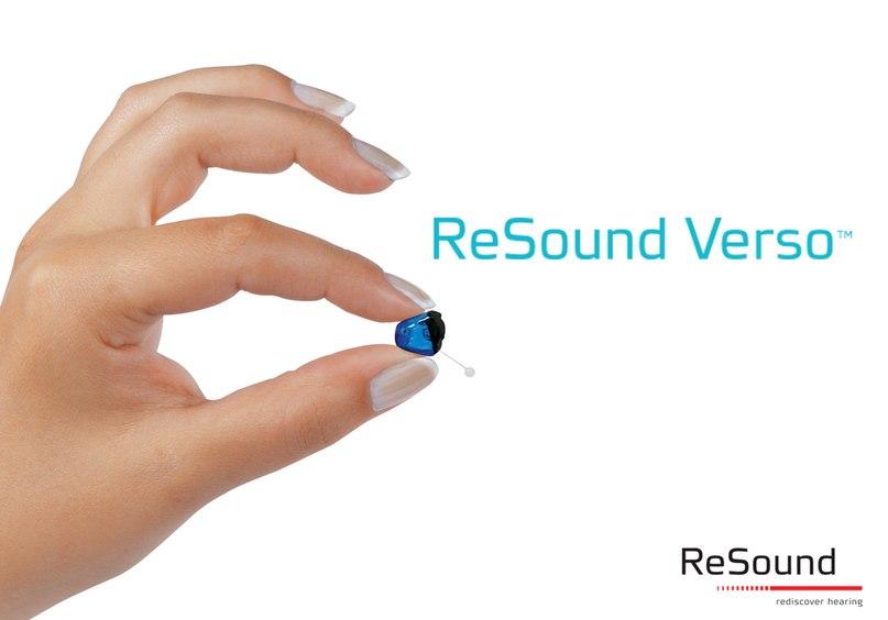 Verso™ CIC – самый незаметный слуховой аппарат ReSound