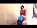 Amateur Belly Dance - Grim Looner Balloon Girl in Yoga Pants Leggings