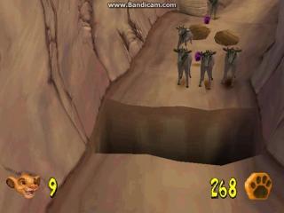 прохождение игры Lion_King_The_-_Simba-s_Mighty_Adventure на эмуляторе (ps 1) часть 3