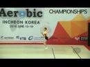 SEMENOV Roman RUS 2016 Aerobic Worlds Incheon KOR Qualifications Individual Men
