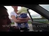 Пьяная баба за рулем с ребенком,  Погоня с задержанием