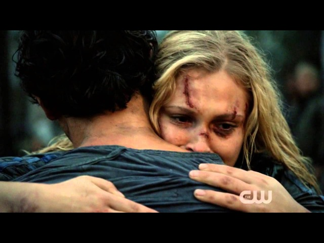 The 100 - Bellamy and Clarke reunion scene - 2x05