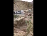 The start of the Flash Floods yesterday in Saudi Arabia, watch flood water swamp the bridge in seconds! Hard to believe but repo