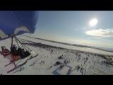 Чебоксары - лыжня России 2016 (съёмка с аэроплана)