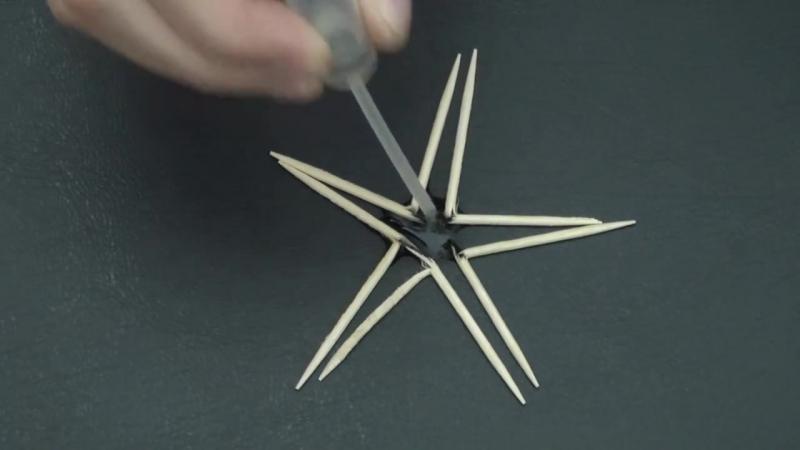 Звезда из зубочисток