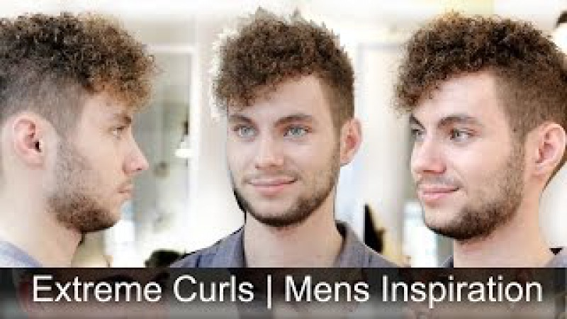 Extremely Curly Hair   Men's Haircut Inspiration   Tutorial by Slikhaar TV