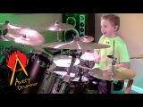 MONEY FOR NOTHING (7 year old Drummer) Cover by Avery Drummer