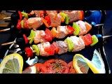 Шашлык из красной рыбы. Закуска из красной рыбы. Очень вкусно, быстро и красиво получается.