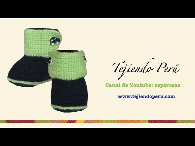 Botitas en crochet para bebe de 0 a 3 meses (Parte 4: lengüeta y acabados)