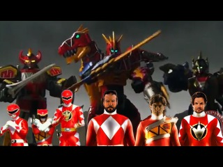 Power Rangers Dino Charge - Mighty Morphin and Dino Thunder Team-Up Morph