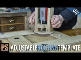 Homemade Adjustable Router Template