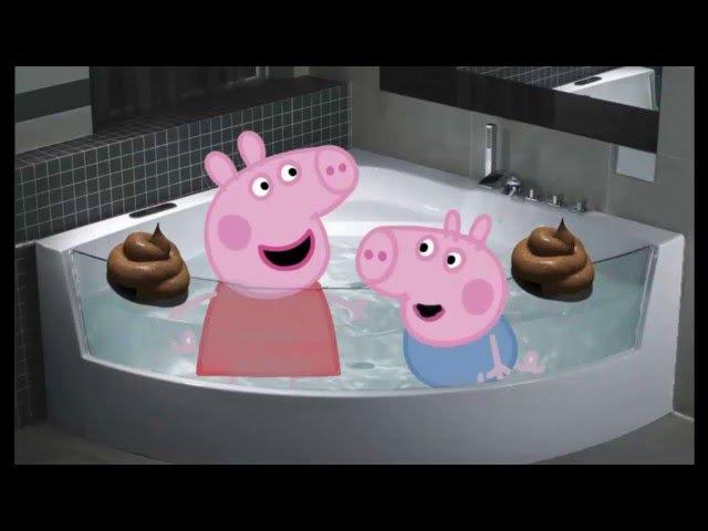 Свинка Пеппа и Джордж обкакались в ванной! Peppa pig and George pooped in the bath!