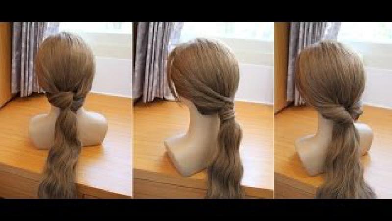 三種簡單快速低馬尾 髮型教學
