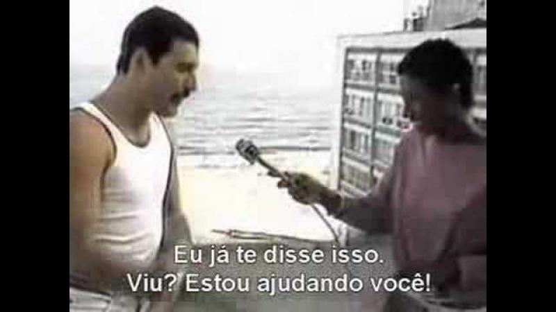 Freddie Mercury e Glória Maria