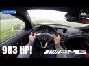 Mercedes Benz C63 AMG Coupe 983 HP BRUTAL! Acceleration Sound POV on Autobahn 5.5 V8 BiTurbo 4Matic