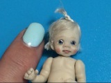 MINIATURE DOLLHOUSE How To Sculpt Polymer Clay Baby Face Head &amp Body Tutorial Video OOAK DOLLS HOUSE