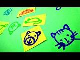 Видео для детей. Как научить ребенка РИСОВАТЬ. Простые животные для малышей