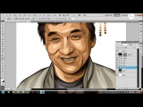 time lapse tutorial vector x vexel jackie chan photoshop cs5