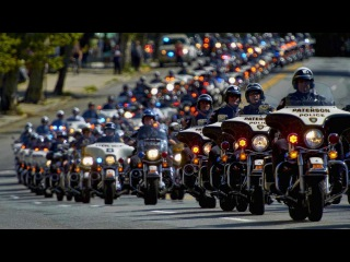 Как чествуют Настоящих Американских Героев   Funeral Procession True American Hero