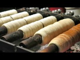 Street Food of Prague, Czech Republic. The Trdelník Sweet Pastry from Slovakia