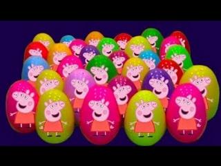 Свинка Пэппа Peppa Pig Открывает яйца с сюрпризом Подарочек Смешарики Хелоу Кити