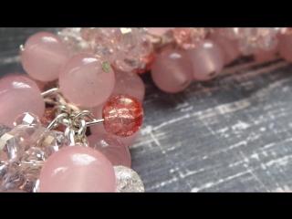 СМОТРЕТЬ ДО КОНЦА) НЕОЖИДАННЫЙ ФИНАЛ! Браслет из розового кварца