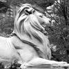 Мраморный лев — садовая и городская скульптура