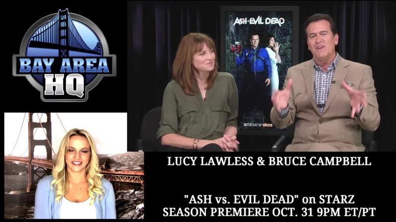 Hilarious Ash vs Evil Dead Interview with Bruce Campbell Lucy Lawless смотреть онлайн без регистрации