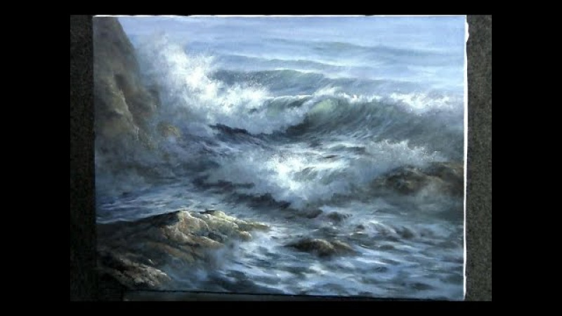 Paint with Kevin Hill - Close-up Ocean Wave