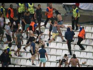 Болельщики сборной России атаковали сектор с фанатами команды Англии после матча ЧЕ-2016