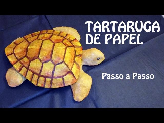 Tartaruga escultura de Papel: Feito a mão Artesanato Papietagem