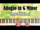 Adagio in G Minor Tomaso Albinoni piano cover ноты