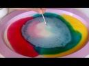Рисуем на молоке Красивые узоры Интересное Видео для детей