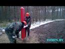 Демаркация установка пограничного столба Республики Беларусь в сотом пограничном знаке