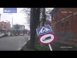 дорожный знак vs пешеход (detalavto.kz)