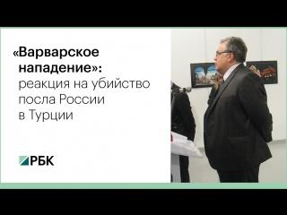 Убийство российского посла в Турции: реакции
