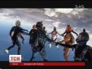 1Plus1 News- Ukrainian skydiving 12 way head down record