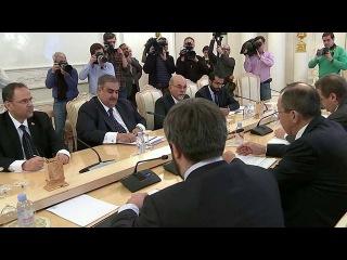 Глава МИД РФ Сергей Лавров провел переговоры со своим коллегой из Бахрейна - Первый канал