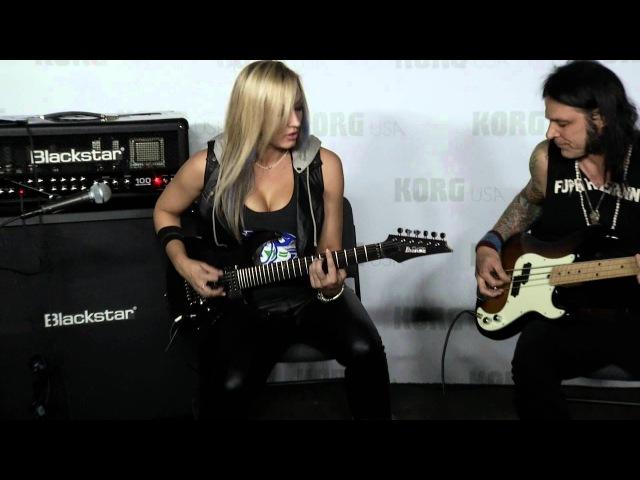 Nita Strauss performs at the Blackstar booth - NAMM 2015