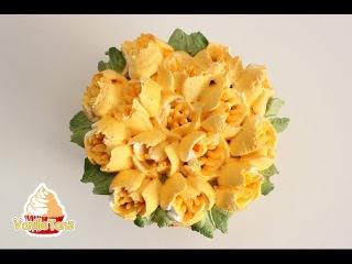 [vk.com/LakomkaVK] Anleitung Creme Tulpen mit Nifty Nozzles Petal Tulip Tülle